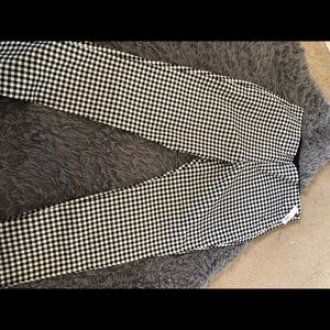 Gingham stretch pants new with tags